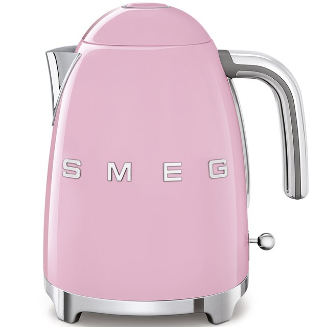 pink electric tea kettle
