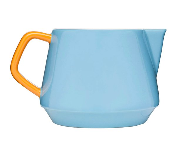 blue and yellow sagaform cream pitcher