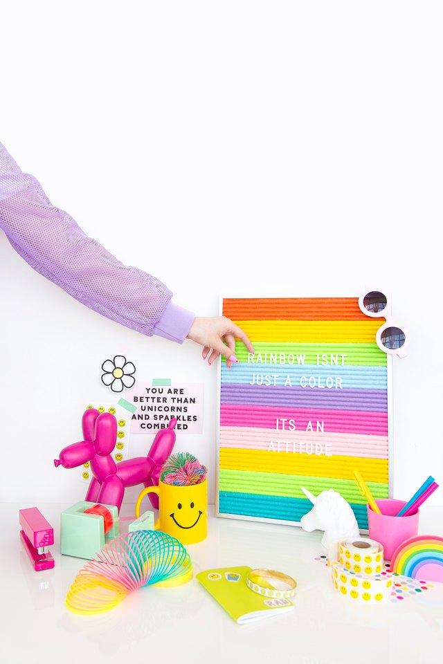 Colorful letter board