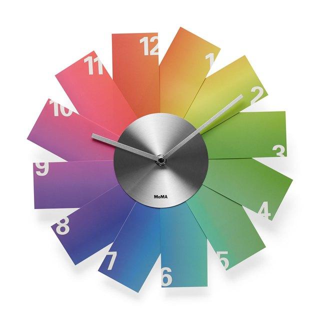 A colorful rainbow clock