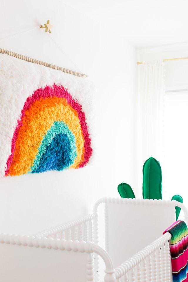 Latch hook wall art