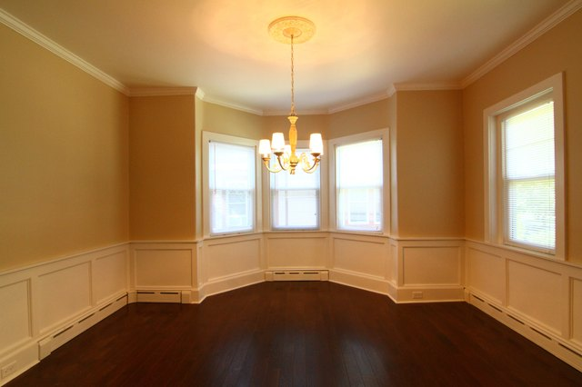 room with baseboard heaters