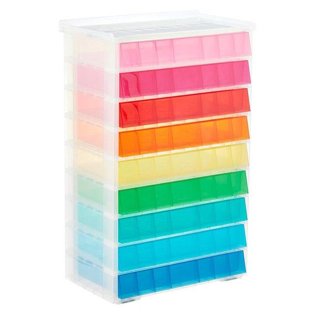 colorful storage unit