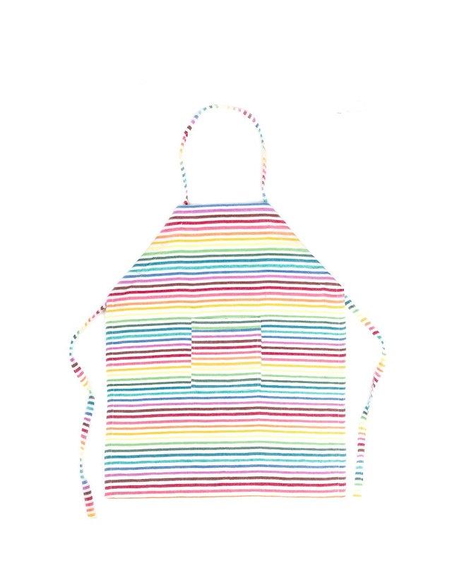 rainbow stripe kids apron