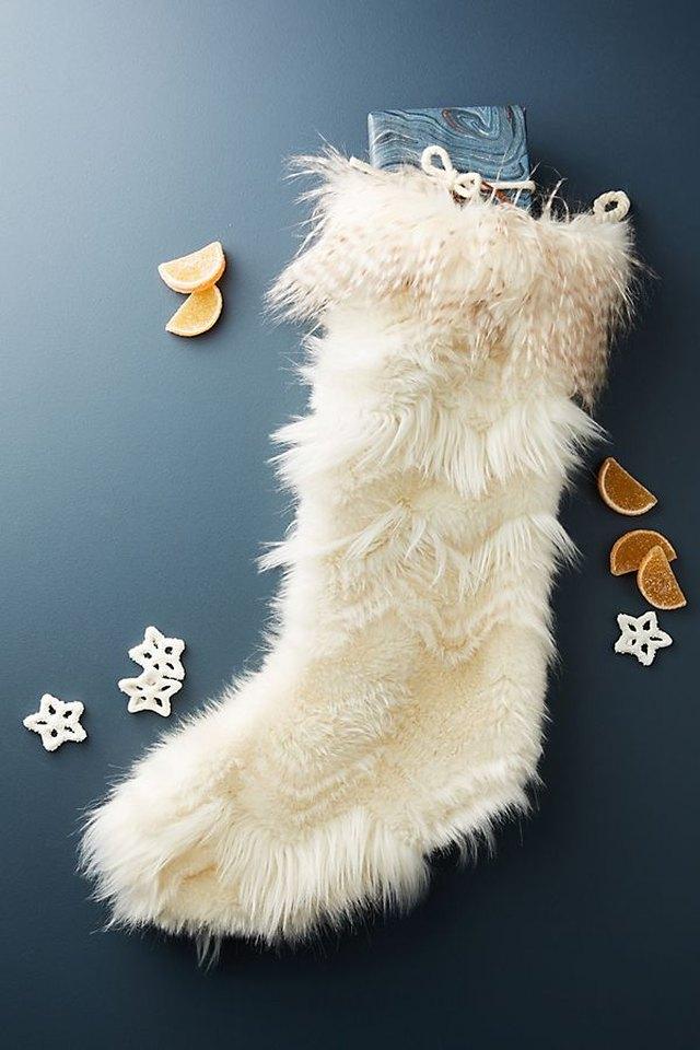 furry christmas stocking