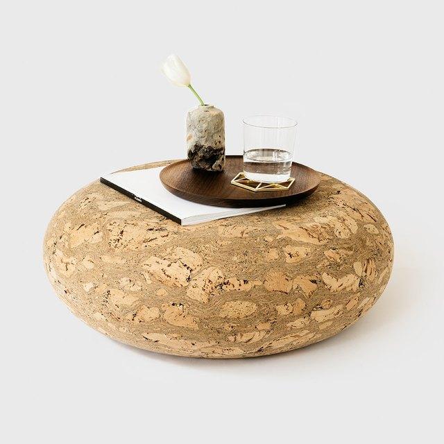 Marbled cork stool