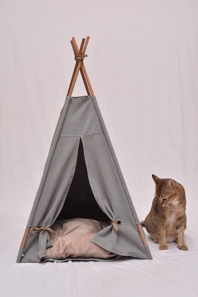 canvas cat teepee