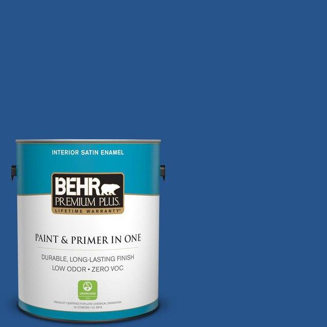 Cobalt blue interior paint