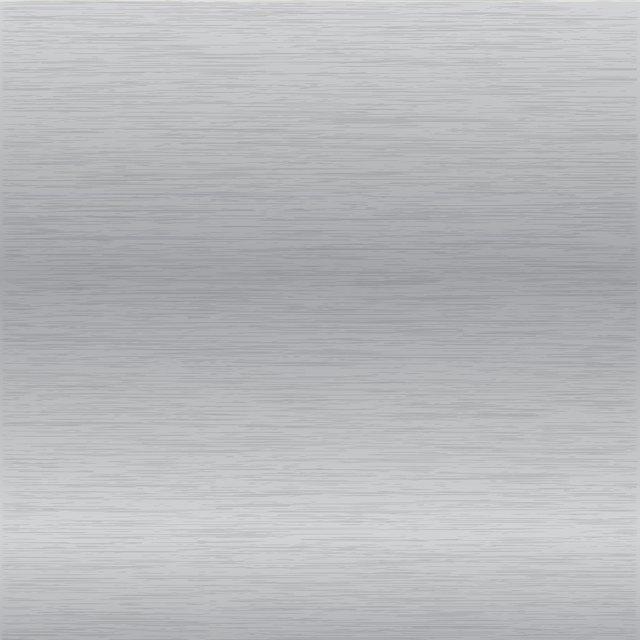 Brushed chrome surface.