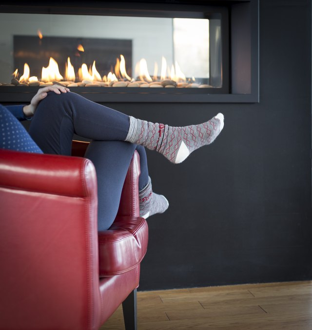 Relaxation near Fireplace