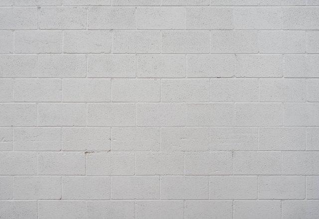 White Cinder Block Wall