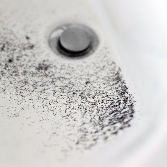 Hair in bathroom sink