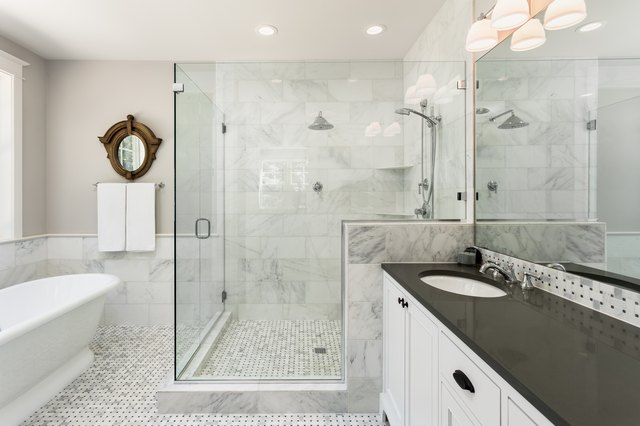 Master bathroom in new luxury home