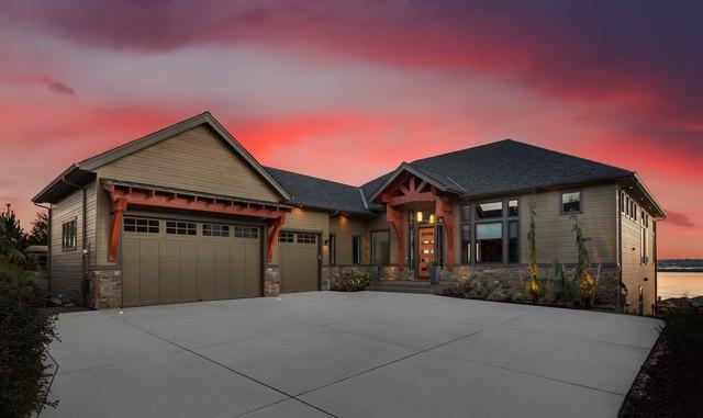 Beautiful Home Exterior at Night
