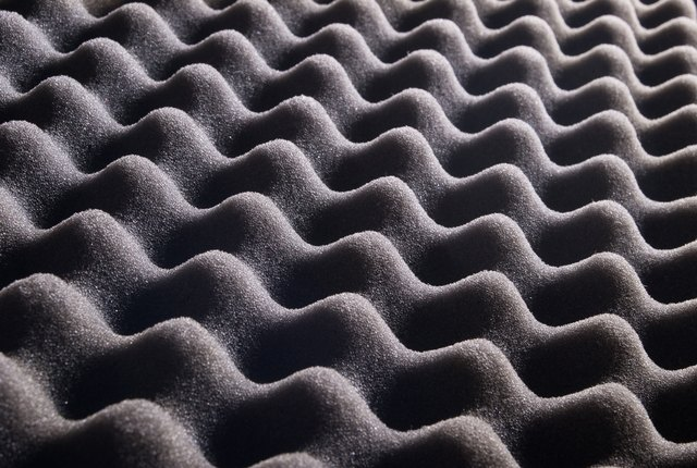 texture of grey sponge, waves for background