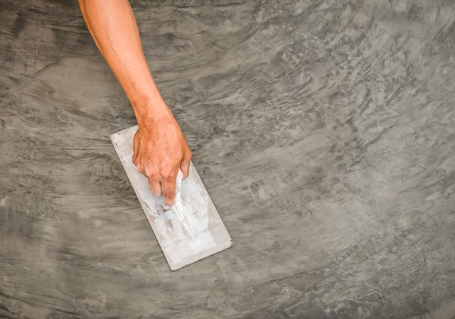 polished concrete surface