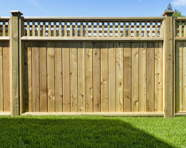 Fence panel placed in a yard for safety