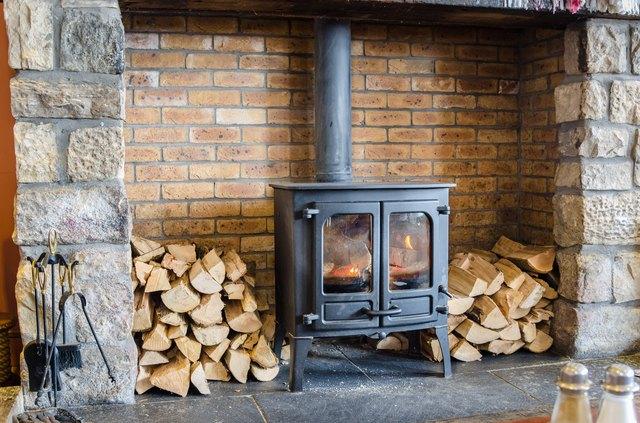 Old-fashioned Wood Burning Stove