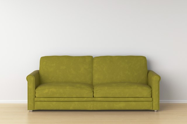 Suede leather sofa