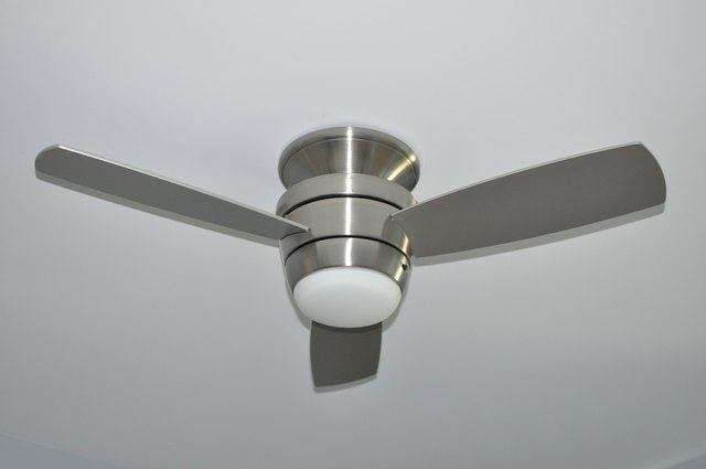 Silver metal ceiling fan