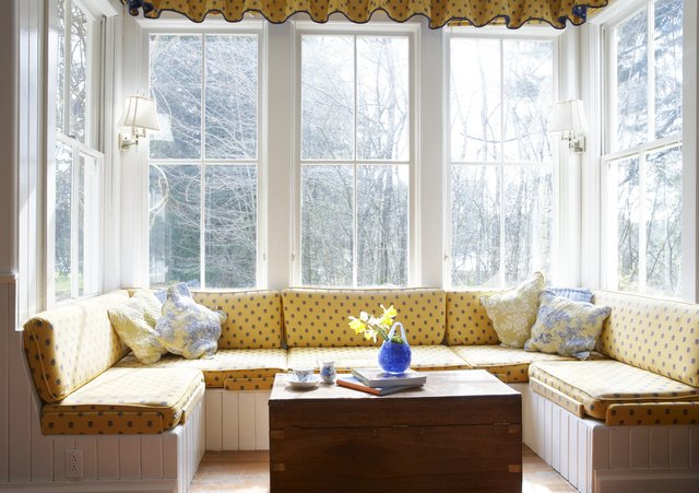 Window seat with table