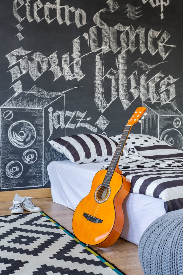Bedroom of a music lover