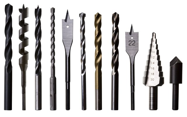 Various Drill Bits for Metal, Wood and Masonry