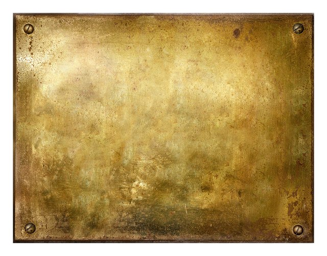 Grungy Brushed Brass Sign