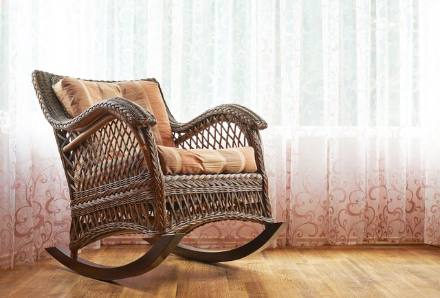 Wicker rocking chair composition
