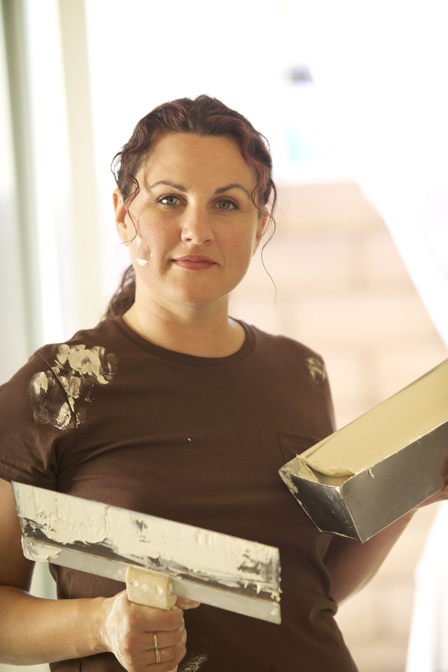 Woman with Spackle Tools