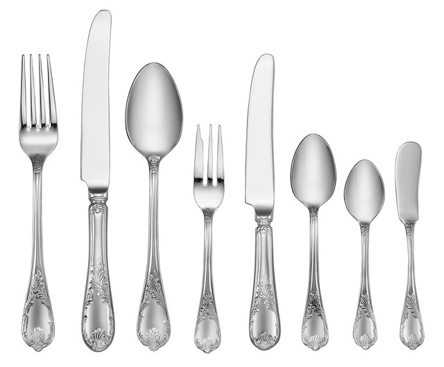 Elegant Silverware Set (Clipping Path)
