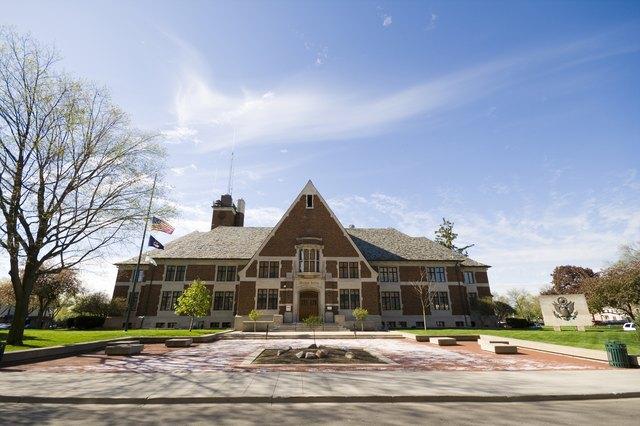 Municipal building, wide angle
