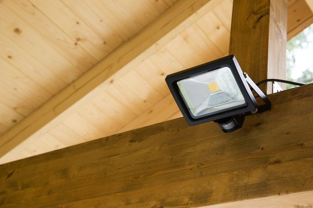 led projector with motion sensor in outdoor carport