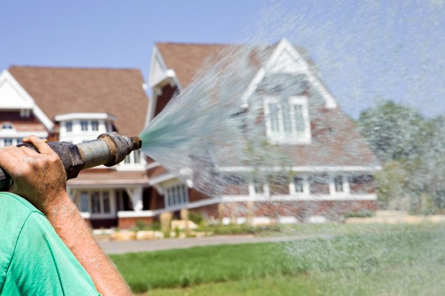 Hydroseed Watering a new Lawn
