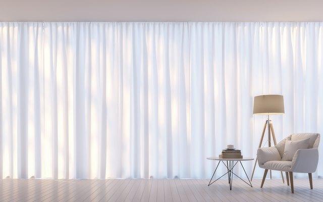 Modern white living room minimal style 3D rendering Image