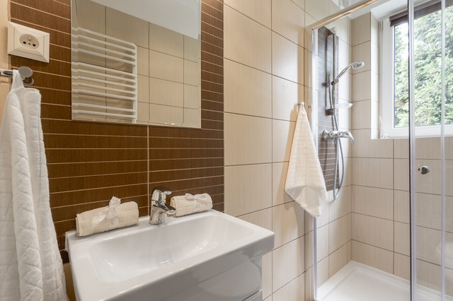 Small bathroom in brown
