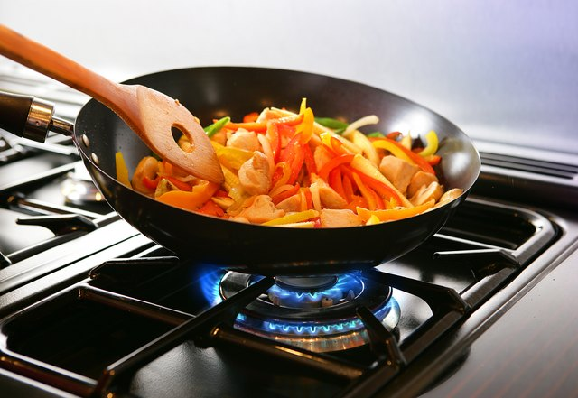 Wok cooking Stirfry
