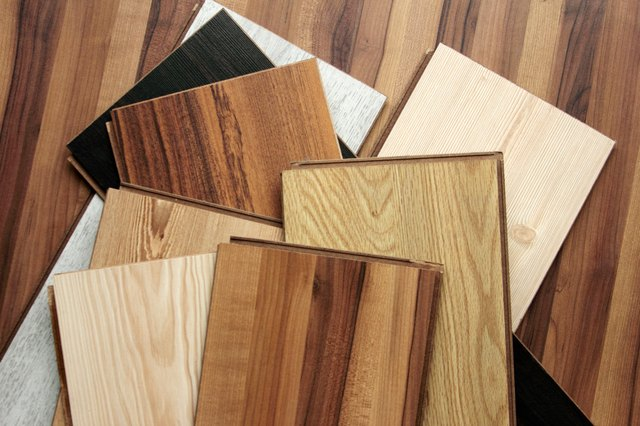 Variety of different colored parquet boards.