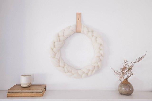 DIY Braided Wool Wreath That Feels So Hygge Holiday | Hunker