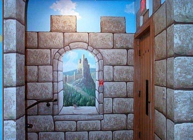 how to paint faux castle walls hunker. Black Bedroom Furniture Sets. Home Design Ideas