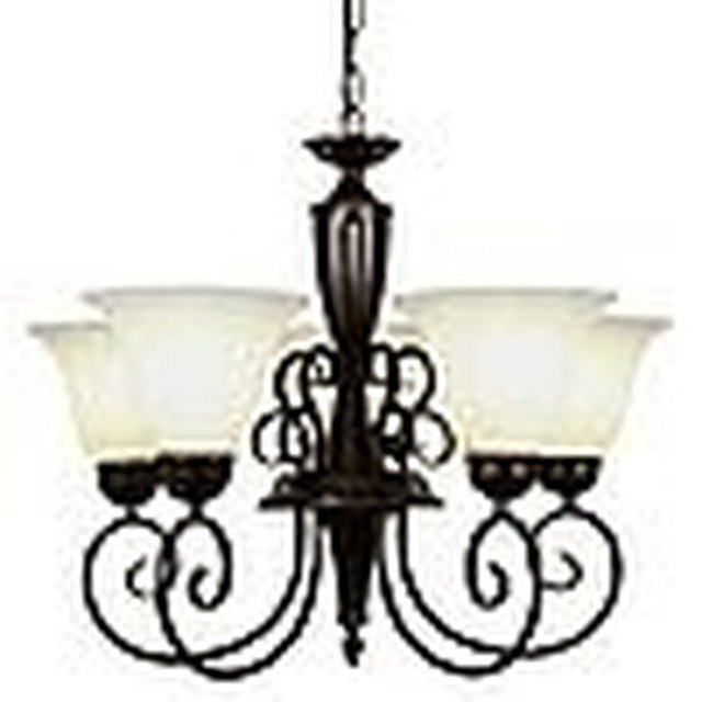 How to make an inexpensive crystal chandelier hunker get the chandelier either use what you currently have or purchase a new inexpensive chandelier that is very simple lowes and home depot have stylish aloadofball Choice Image