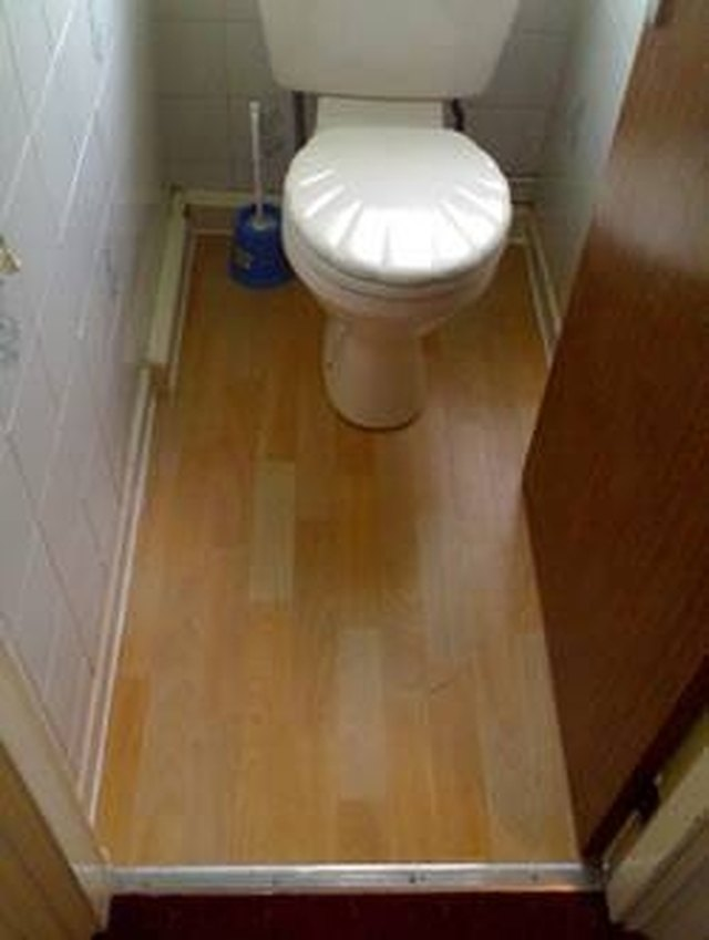 How Lay Laminate Flooring Around Toilet Hunker