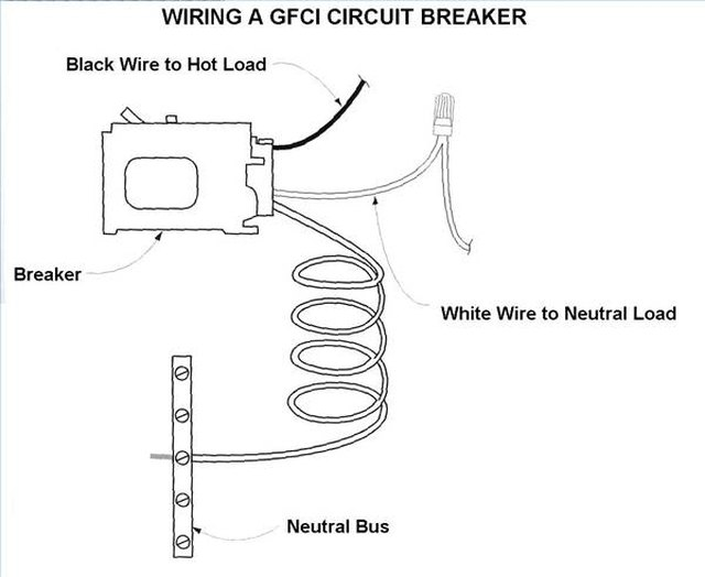 ground fault breaker wiring diagram