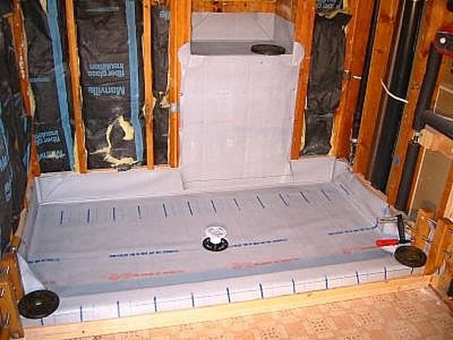 Exceptionnel Waterproof The Shower Pan. Depending On Local Building Code, You Can Use A  Vinyl Sheet Membrane Or Hot Mop With Tar. If You Use A Sheet Membrane, ...