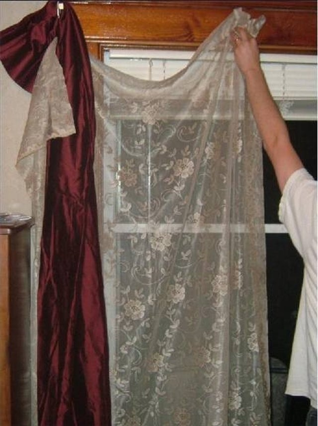 how to make scarves to drape on windows hunker