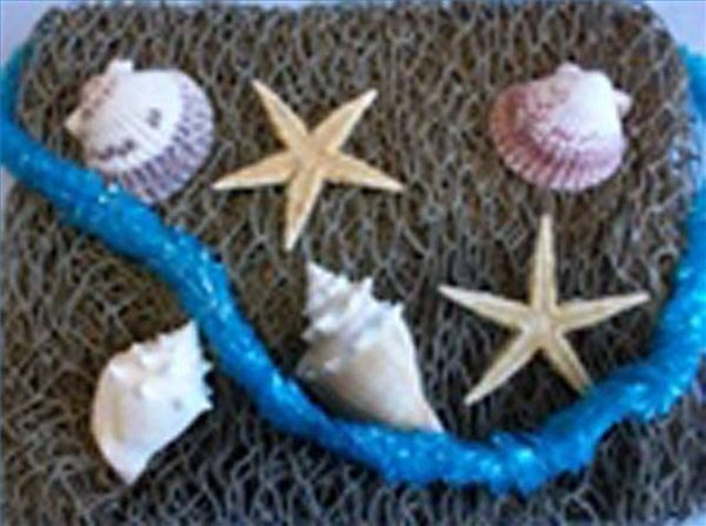 how to make a decorative fish net
