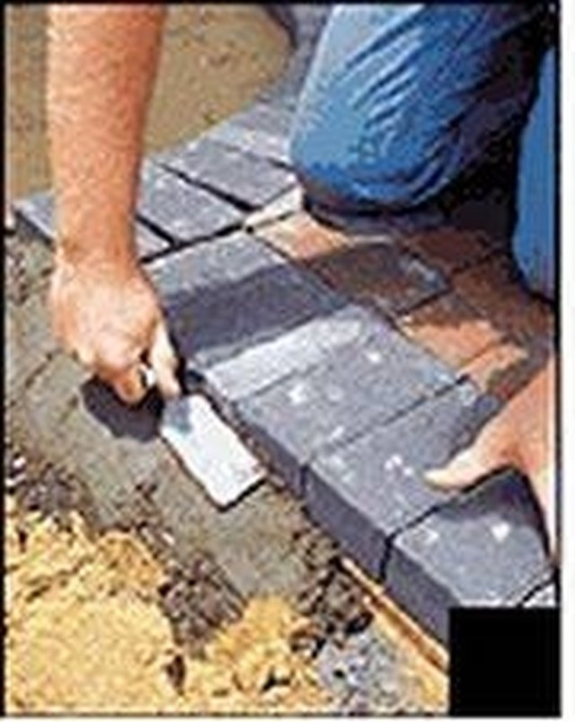 How To Install Concrete Paver Edging Hunker