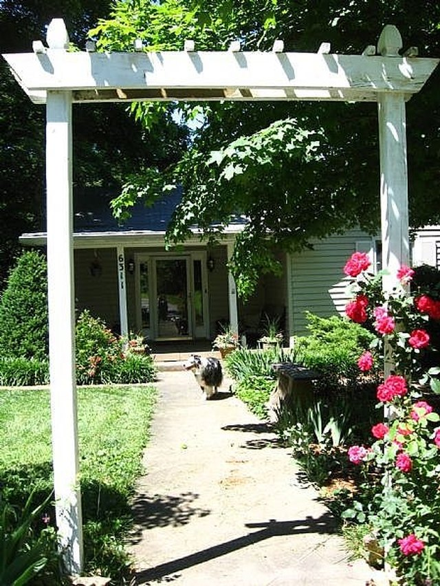How To Build A Simple Decorative Garden Arbor For About $50 | Hunker
