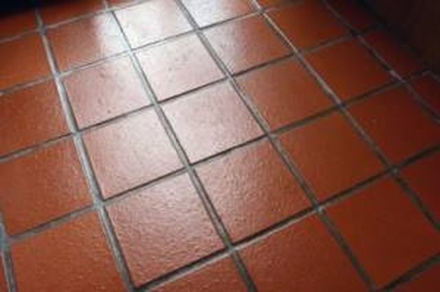 Cleaning quarry tile floors