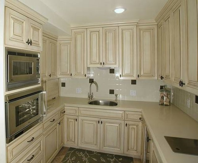 White cabinets with brown glaze & Painted Kitchen Cabinet Ideas | Hunker